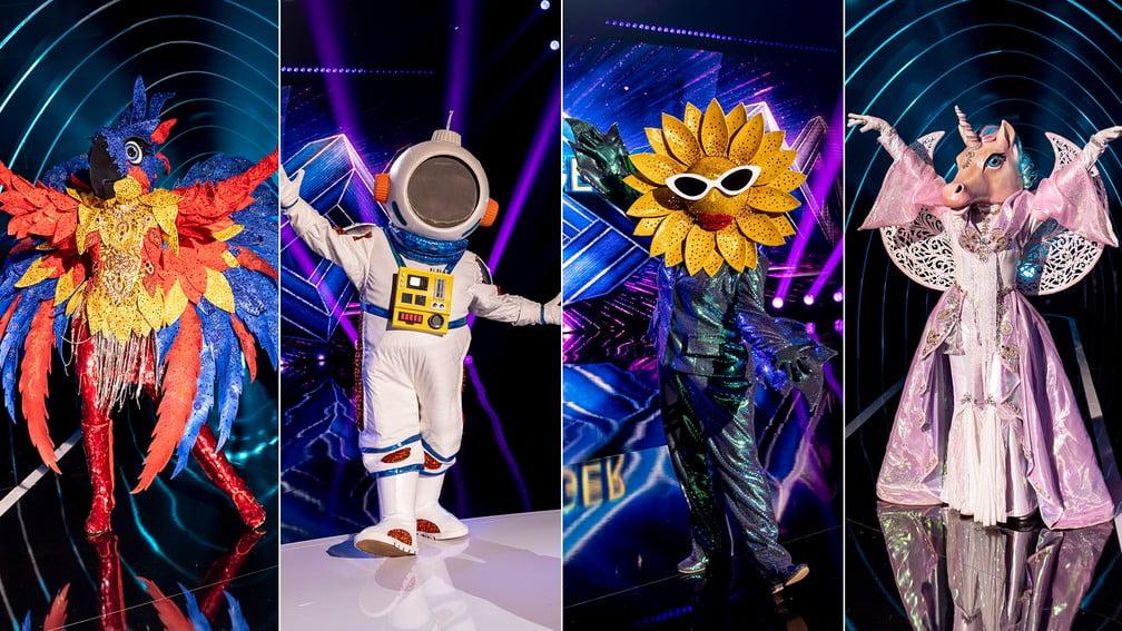 arara astronauta girassol unicornio the masked singer